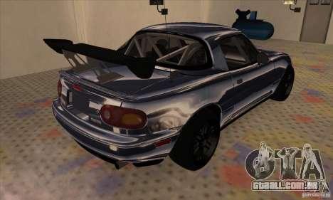 Mazda MX5 Style Drifting para GTA San Andreas traseira esquerda vista