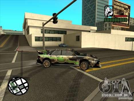 Novo vinil para Cultana para GTA San Andreas traseira esquerda vista