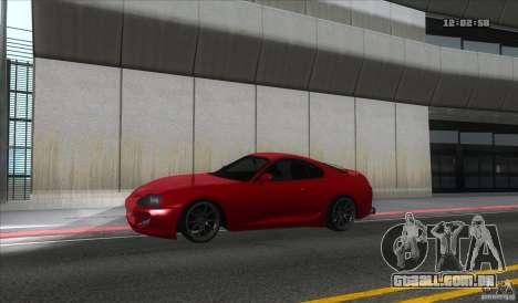Toyota Supra Stance para GTA San Andreas esquerda vista