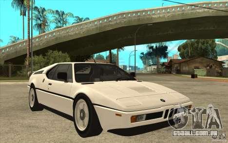 BMW M1 1981 para GTA San Andreas vista traseira