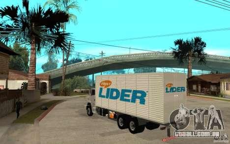 Camiun Hiper Lider para GTA San Andreas traseira esquerda vista