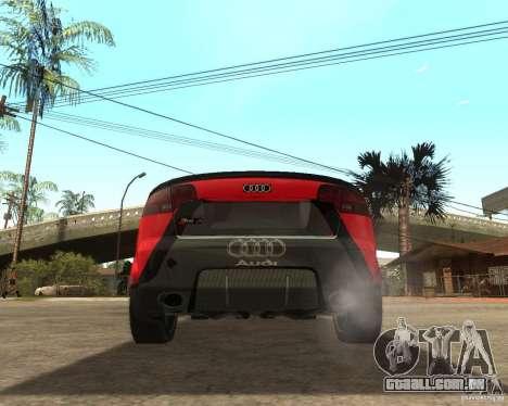 Audi RS4 Grip para GTA San Andreas traseira esquerda vista