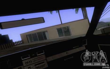 Chevrolet Caprice Clasico para GTA San Andreas vista traseira