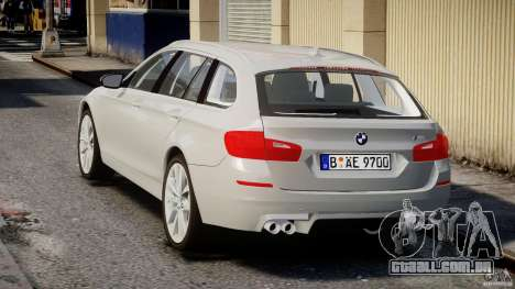 BMW M5 F11 Touring para GTA 4 traseira esquerda vista