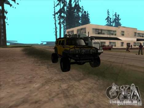 Hummer H3 Trial para GTA San Andreas vista traseira