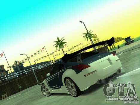 Nissan 350z Tea Hair para GTA San Andreas vista traseira