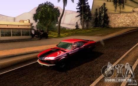 Ford Mustang Boss 302 para GTA San Andreas vista inferior