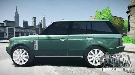 Range Rover Supercharged v1.0 para GTA 4 esquerda vista