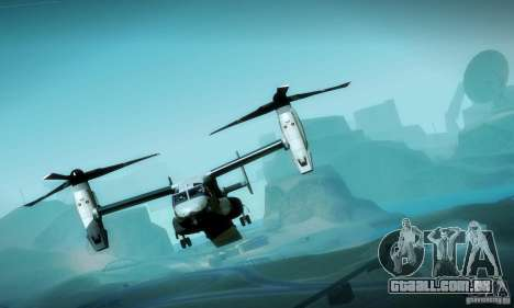 MV-22 Osprey para GTA San Andreas vista superior
