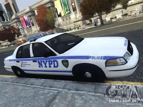 Ford Crown Victoria NYPD 2012 para GTA 4 esquerda vista