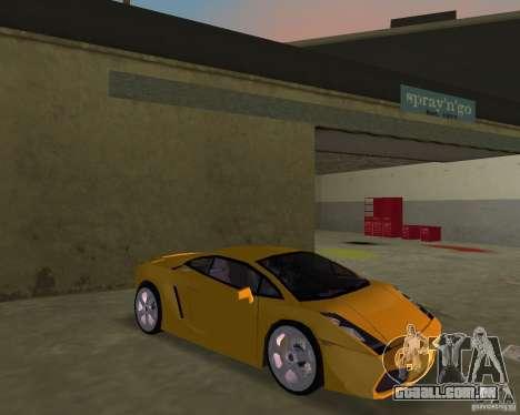 Lamborghini Gallardo v.2 para GTA Vice City vista traseira
