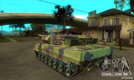 Leopard 2 A6 para GTA San Andreas traseira esquerda vista