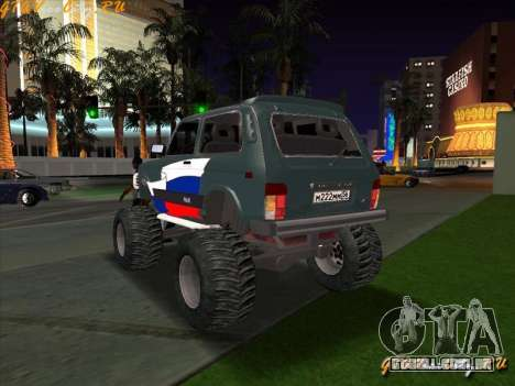 VAZ-21213 4x4 Monster para GTA San Andreas esquerda vista