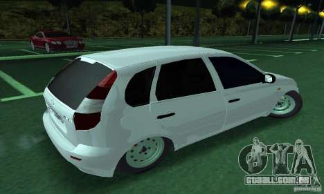 Lada Kalina Hatchback para GTA San Andreas esquerda vista