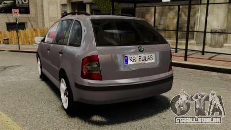 Skoda Fabia Combi para GTA 4 traseira esquerda vista