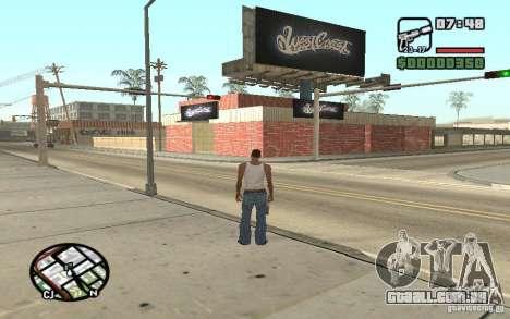 Um Paint Shop West Coast Customs para GTA San Andreas