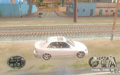 Lexus IS300 Light Tuning para GTA San Andreas esquerda vista