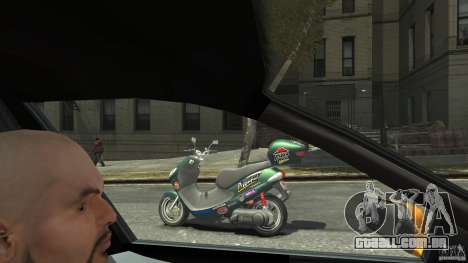 Suzuki Address 110 para GTA 4 esquerda vista