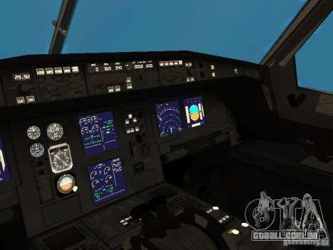 Airbus A340-300 Qantas Airlines para GTA San Andreas vista interior