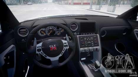 Nissan GTR R35 SpecV v1.0 para GTA 4 vista interior
