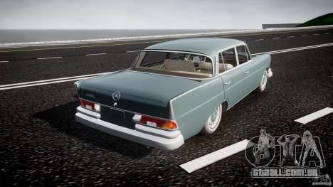 Mercedes-Benz W111 v1.0 para GTA 4 vista superior