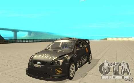 2 obras de pintura para o Ford Focus RS WRC 08 para GTA San Andreas vista direita