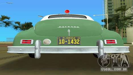 Packard Standard Eight Touring Sedan Police 1948 para GTA Vice City vista interior
