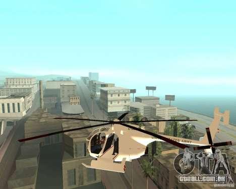 AH-6C Little Bird para GTA San Andreas esquerda vista