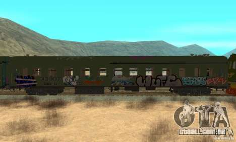 Custom Graffiti Train 2 para GTA San Andreas traseira esquerda vista