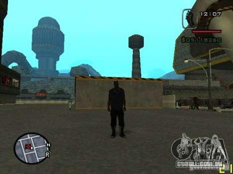 CJ do homem invisível para GTA San Andreas segunda tela