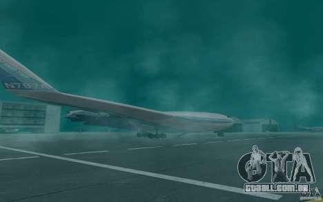 Boeing 797 BWB para GTA San Andreas esquerda vista