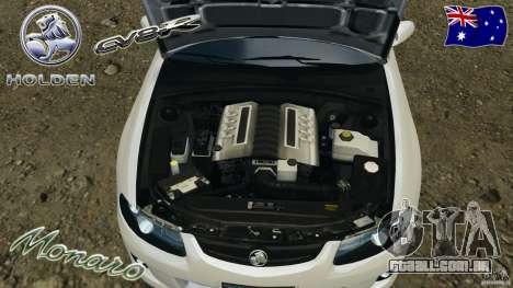 Holden Monaro CV8-R para GTA 4 vista lateral