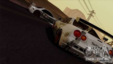 SA Beautiful Realistic Graphics 1.4 para GTA San Andreas quinto tela