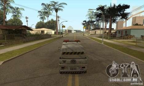 Varredor de rua de trabalho para GTA San Andreas terceira tela