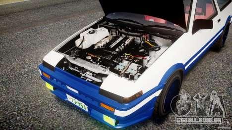 Toyota Trueno AE86 Initial D para GTA 4 vista interior