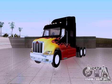 Peterbilt 387 para GTA San Andreas vista traseira