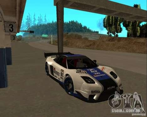 Acura NSX Sumiyaka para vista lateral GTA San Andreas