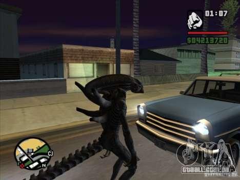 Alien Xenomorph para GTA San Andreas terceira tela