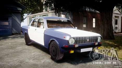 Volga GAZ-2410 1989 v 2.1 para GTA 4 vista de volta