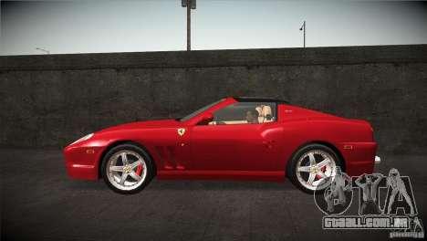 Ferrari 575 Superamerica v2.0 para GTA San Andreas esquerda vista