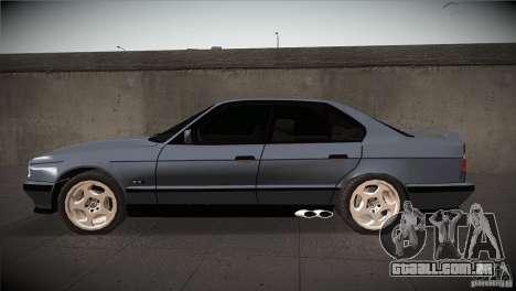 BMW M5 E34 1990 para GTA San Andreas esquerda vista