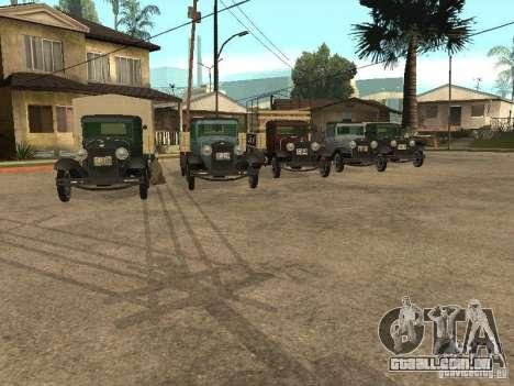 FORD AA para GTA San Andreas vista traseira