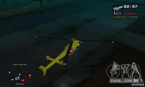 Helitour Maverick de GTA 4 para GTA San Andreas vista direita