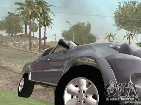 Toyota Hilux para GTA San Andreas vista interior