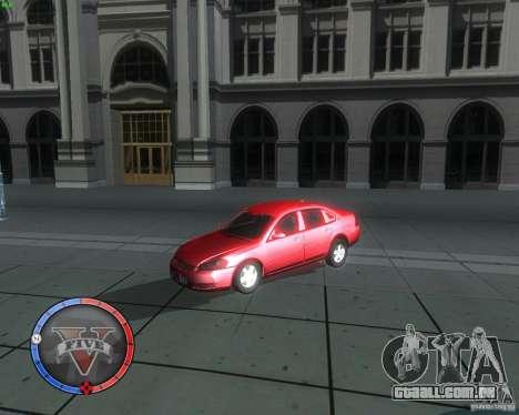 Chevrolet Impala 2008 para GTA San Andreas vista direita