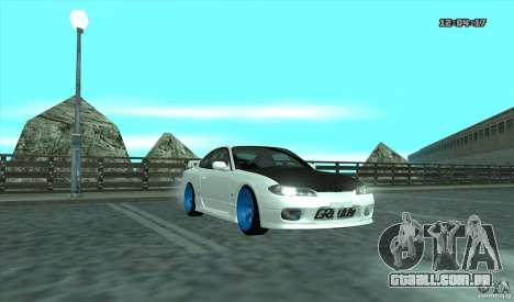 Nissan Silvia S15 Stance para GTA San Andreas esquerda vista