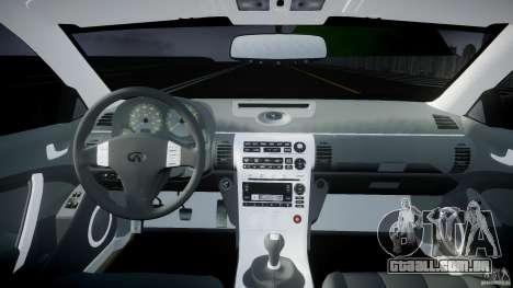 Infiniti G35 Coupe 2003 JDM Tune para GTA 4 vista direita