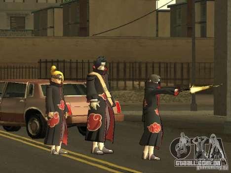 The Akatsuki gang para GTA San Andreas por diante tela