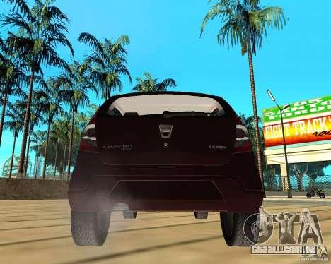 Dacia Sandero 1.6 MPI para GTA San Andreas traseira esquerda vista