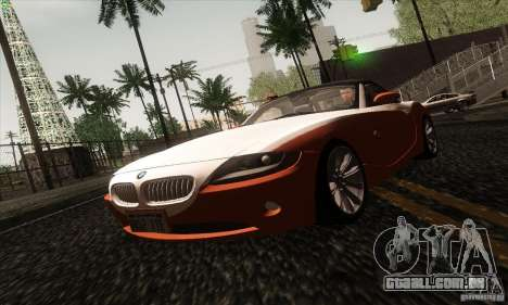 BMW Z4 para GTA San Andreas vista superior